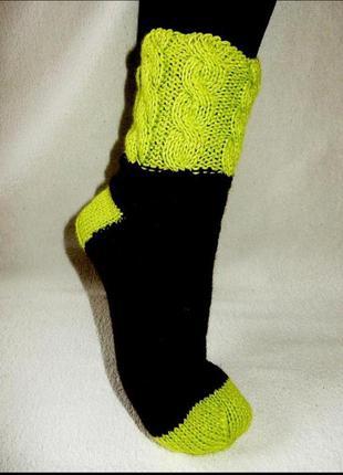 Яркие зимние носки тёплое вязаные, оригинальные
