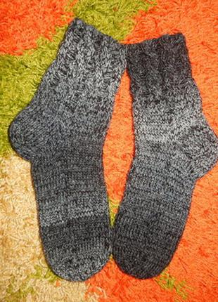 Очень теплые вязаные носки комнатные,плетение косами,супер кач...