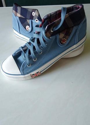 Шикарные джинсовые кеды/ботинки, супер качество/скидки