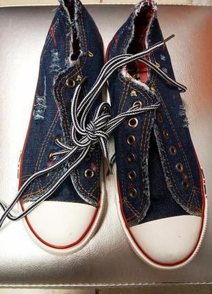Шикарные джинсовые кеды конверсы/супер качество/низкая цена