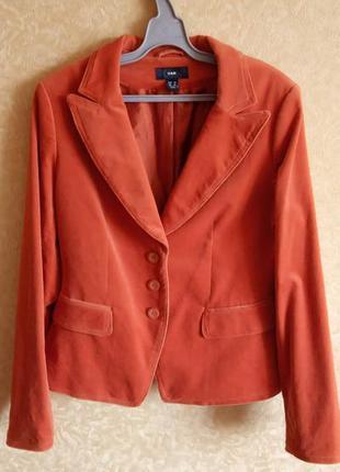 Стильный пиджак вельветовый/оранжевый пиджак/тотальная распродажа