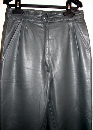 #брюки # кожа #высокая талия # бананы #серые #винтаж