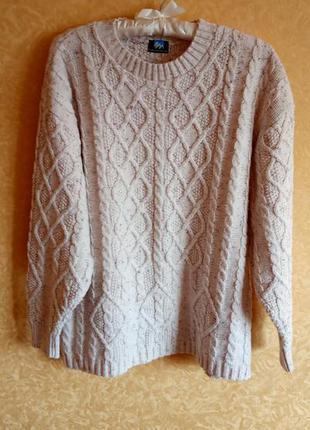 ⛄тёплый свитер белый/свитер большой размер/тотальная распродаж...