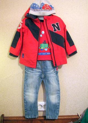 Next модный малыш куртка комплект  мальчик 1,5-2 года свежая к...