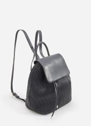 Черный рюкзак из эко кожи