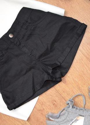 Новые чёрные обтягивающие шорты h&m база базовые