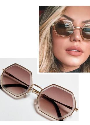 Женские солнцезащитные очки шестигранники