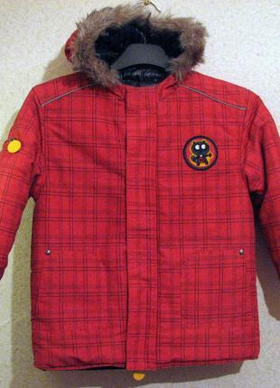 Vertbaudet куртка деми 2 в одной красная и синяя 5 лет рост 10...
