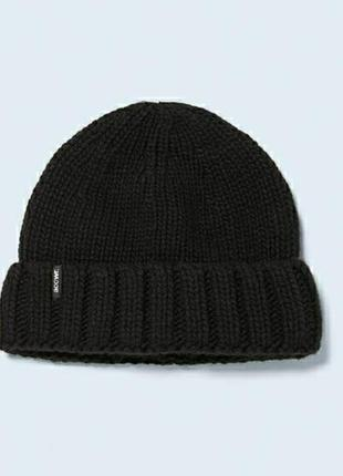Шерстяная шапка-бини  в рубчик zara man