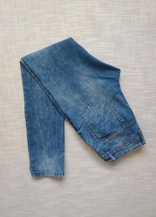 12-13 лет, джинсы с потертостями new look.