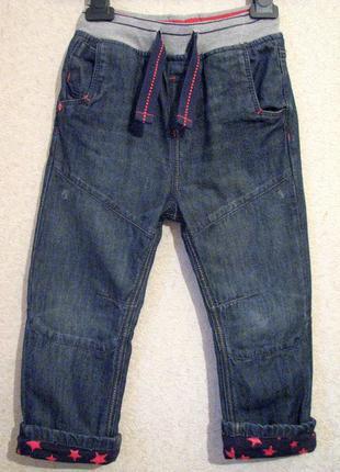 Удобные джинсы пояс -резинка 2-3 года