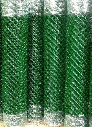 Сетка рабица мет. с ПВХ покрытием (в рулоне 10м)