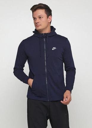 Кофта свитшот худи nike sportswear club fz jersey оригинал! - 35%
