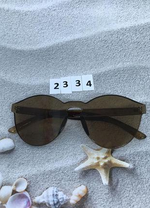 Коричневые очки без оправы к. 2334