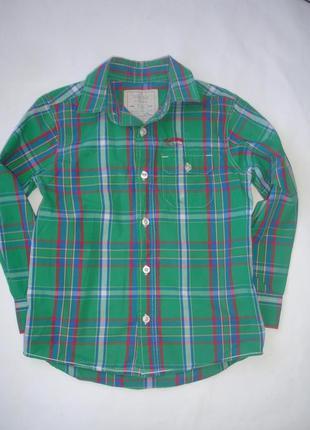 Фирменная george рубашка мальчику 8-9 лет идеал хлопок