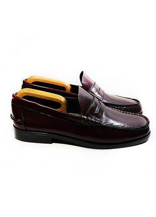 Мужские кожаные туфли лоферы paolo италия