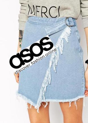 🔥🔥🔥очень красивая стильная джинсовая асимметричная мини юбка 🖤...