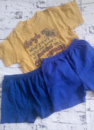 Комплект,футболка и шорты 2 шт.унисекс.1-2 года