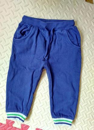 Теплые, на баечке спортивные штаны, рост 86