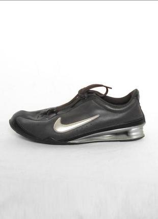 Кожаные спортивные беговые кроссовки nike shox