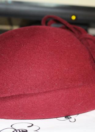 шляпа marida маленькая английская шляпка  шляпка-таблетка