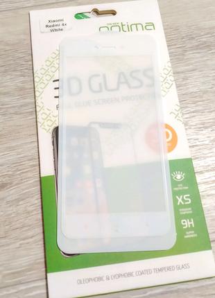 Xiaomi Redmi 4x защитное стекло полномерное full glue