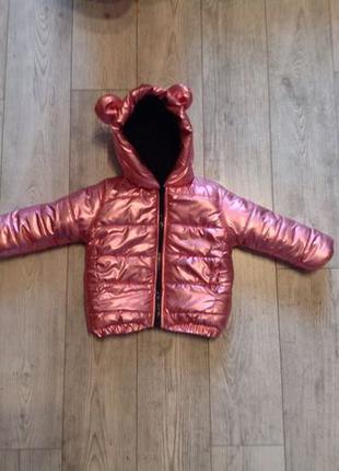 Зимняя детская курточка на девочку