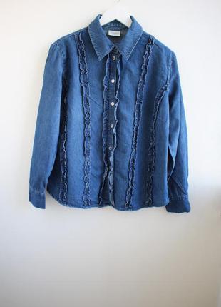 Актуальная джинсовая рубашка canda