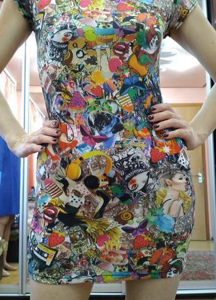 Платье футболка интересный принт