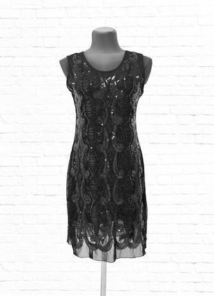 Роскошное гипюровое платье. черное.