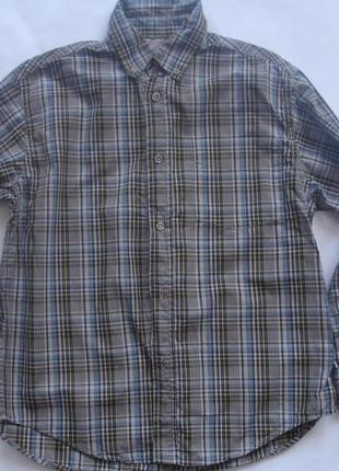 Фирменная timberland стильная рубашка мальчику 10-12 лет в нов...