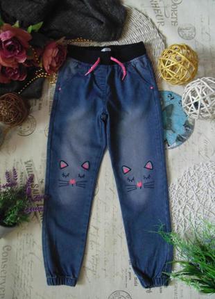 8лет.гламурные джинсы джоггеры girls.
