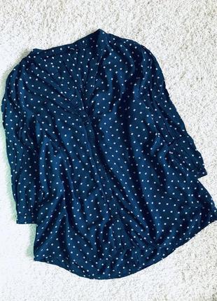 Рубашка туника  в цветочки oversize