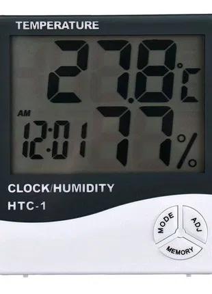 HTC-1 комнатный Измеритель температуры и влажности, часы.