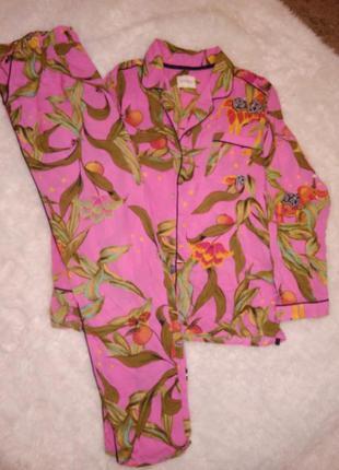 Красивая пижама в цветочный принт рубашка штаны