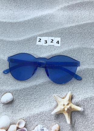 Синие очки без оправы к. 2324