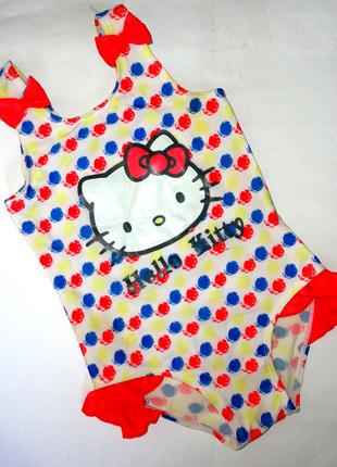 Сдельный купальник mothercare 4-5 лет hello kitty