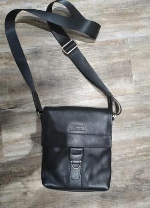 Кожаная мужская сумка, новая