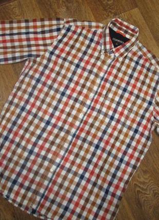 Стильная рубашка кежуал 100% коттон