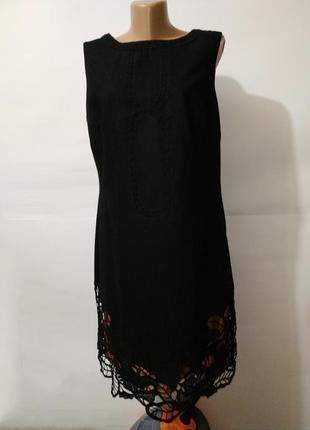 Платье кружевное шерстяное красивое оргинал monsoon uk 14/42/l