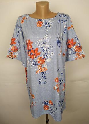 Платье цветочное трикотажное красивое marks&spencer uk 14/42/l