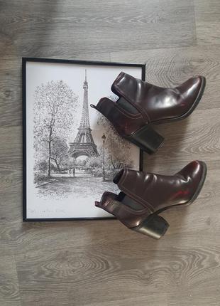 🔥 🔥 🔥стильные ботиночки цвета бордо в идеальном состоянии ❤ st...