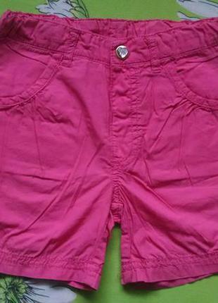 Розовые шорты для девочки 5-6 лет