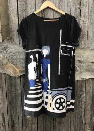 Пляжная туника оверсайз платье на пляж