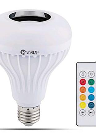 2в1 VONTAR E27 220в Беспроводной Bluetooth Динамик + RGB лампа