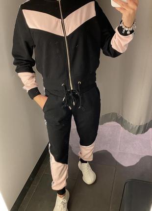 Спортивный костюм с начесом комплект amisu есть размеры