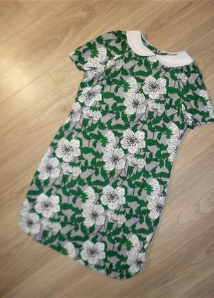 Платье в цветочный принт размер 8