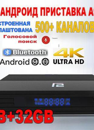 Быстрая ТВ приставка A95X F2 4Гб+32Гб смарт андроид X96 tv box