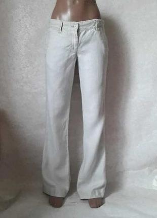 "Фирменные french connection брюки/штаны со 100 % льна цвета ""б..."