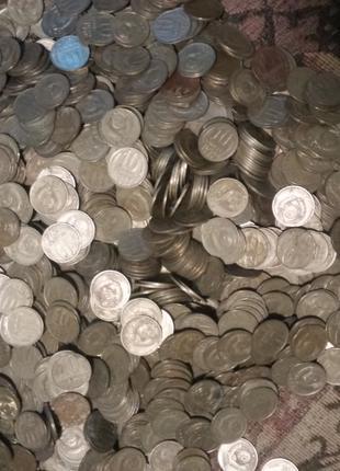 Монеты СССР 10коп на вес